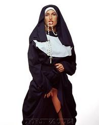 Horny nun shows...