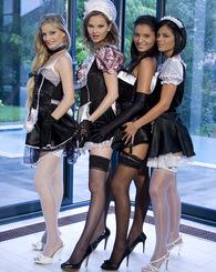 Four sexy maids...