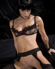 Brunette in black...