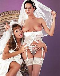 Horny brides have...