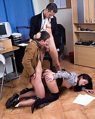 Naughty secretary...