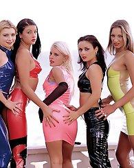 Five hot girls...