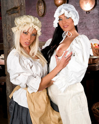 Horny lesbians...