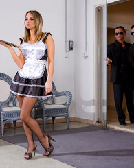 Horny maid in...